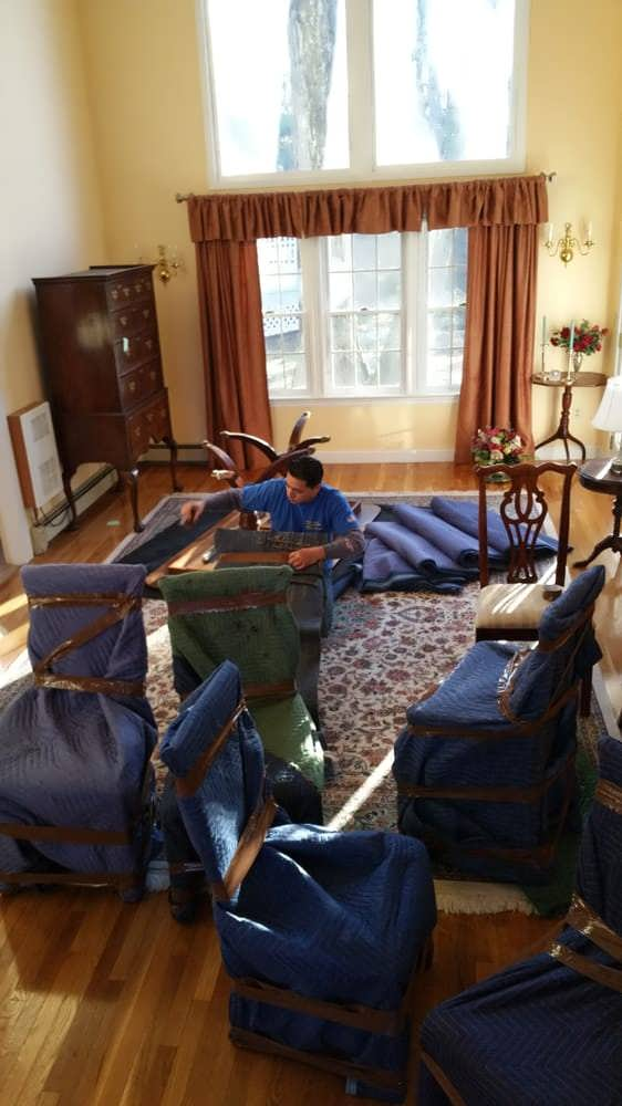 moving furniture in large home